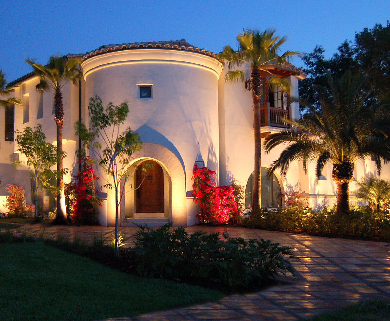 Orlando landscape lighting contractor orlando florida outdoor estate house with architectural landscape lighting in lake nona florida audiocablefo
